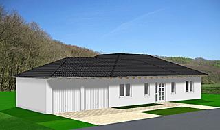 Winkelbungalow 106 6 ohne Erker und Doppelgarage Einfamilienhaus ...