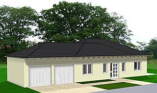 winkelbungalow 106 6 mit erker und doppelgarage einfamilienhaus neubau massivbau sein auf stein. Black Bedroom Furniture Sets. Home Design Ideas