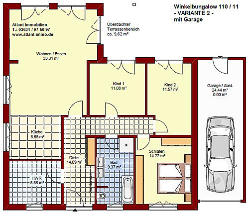 winkelbungalow 110 11 einfamilienhaus neubau massivbau. Black Bedroom Furniture Sets. Home Design Ideas