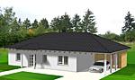 Winkelbungalow 113 qm Wohnfläche plus Carport Ansicht 1