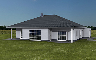 Einfamilienhaus neubau mit garage  Winkelbungalow 117 12 9 mit zwei Garagen Einfamilienhaus Neubau ...