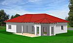 Winkelbungalow mit Lichterker 117 m² Wohnfläche 4 Zimmer Hausansicht 1