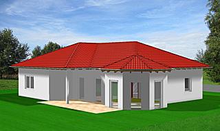 Einfamilienhaus neubau mit erker  Winkelbungalow 117 mit Erker Einfamilienhaus Neubau Massivbau Sein ...