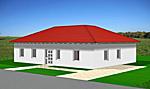 Winkelbungalow mit Lichterker 117 m² Wohnfläche 4 Zimmer Hausansicht 2