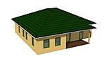 Winkelbungaalow 119 m² mit überdachter Terrasse