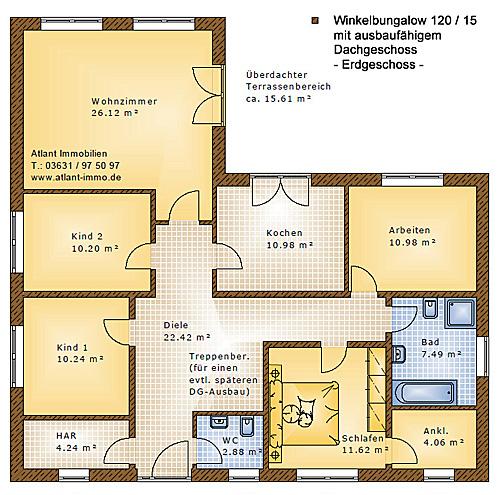 winkelbungalow 120 15 einfamilienhaus neubau massivbau stein auf stein. Black Bedroom Furniture Sets. Home Design Ideas