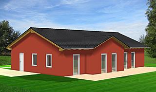 winkelbungalow 126 mit zwei giebelseiten einfamilienhaus neubau massivbau stein auf stein. Black Bedroom Furniture Sets. Home Design Ideas