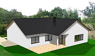 Winkelbungalow satteldach die neuesten innenarchitekturideen for Haus l form satteldach