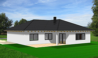winkelbungalow 129 15 walmdach einfamilienhaus neubau. Black Bedroom Furniture Sets. Home Design Ideas