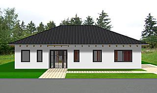 Winkelbungalow 129 qm Wohnfläche mit Walmdach