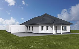 winkelbungalow 132 14 15 mit doppelgarage einfamilienhaus. Black Bedroom Furniture Sets. Home Design Ideas