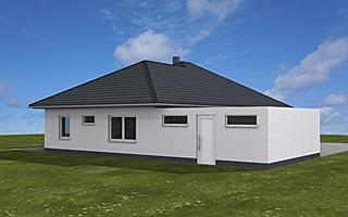 winkelbungalow 132 14 15 mit doppelgarage einfamilienhaus neubau massivbau stein auf stein. Black Bedroom Furniture Sets. Home Design Ideas