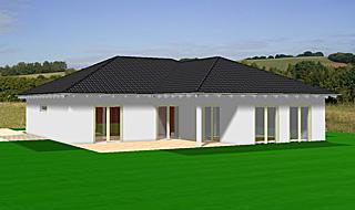 Winkelbungalow 136 qm Wohnfläche plus 14 qm überdachter Terrassenbereich