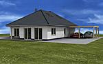 winkelbungalow 136 14 einfamilienhaus neubau massivbau stein auf stein. Black Bedroom Furniture Sets. Home Design Ideas