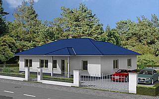 Winkelbungalow 150 mit Erker Einfamilienhaus Neubau Massivbau Sein ...