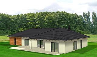 Winkelbungalow 151 m² Wohnfläche plus Doppelcarport und Abstellraum