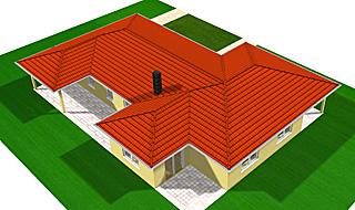 Winkelbungalow 159 - qm Wohnfläche mit Einliegerwohnung und zwei überdachten Terrassenbereichen Ansicht 1