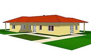 Winkelbungalow 159 - qm Wohnfläche mit Einliegerwohnung und zwei überdachten Terrassenbereichen Ansicht 2