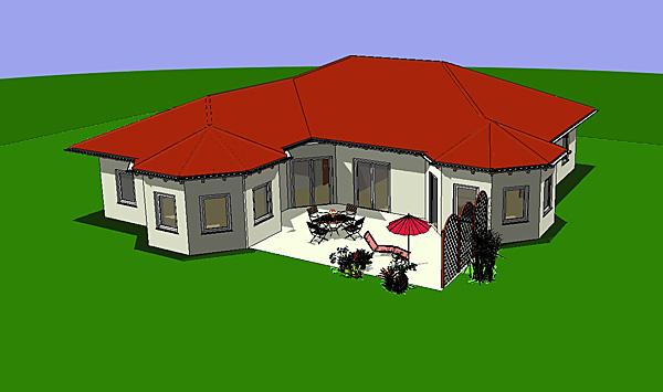 Winkelbungalow mit zwei Erkern 167 m² Wohnfläche Massivhaus