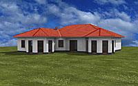 Winkelbungalow 167 mit zwei Erkern Variante 3 und 4; 167 m² Wohnfläche