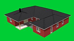 Winkelbungalow mit Atrium 192 m² Wohnfläche