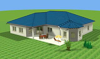 winkelbungalow 194 mit erker einfamilienhaus neubau massivbau stein auf stein. Black Bedroom Furniture Sets. Home Design Ideas