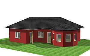 winkelbungalow 90 mit erker einfamilienhaus neubau massivbau stein auf stein. Black Bedroom Furniture Sets. Home Design Ideas