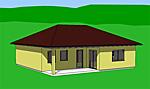 Winkelbungalow 97 m² + 21 m² überdachter Terrassenbereich