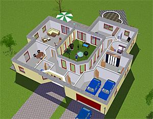 atrium 7 2 winkelbungalow einfamilienhaus neubau massivbau. Black Bedroom Furniture Sets. Home Design Ideas