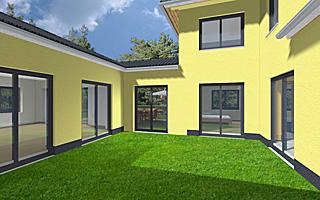 atrium 7 2 winkelbungalow turm 170 42 37 einfamilienhaus neubau massivbau stein auf stein. Black Bedroom Furniture Sets. Home Design Ideas