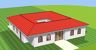 Winkelbungalow mit Atrium 142 m² Wohnfläche