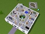 Bungalow 161 m² mit Atrium 13 m²