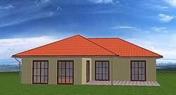 Winkelbungalow mit 110 qm Wohnfläche plus 11 qm überdachtem Terrassenbereich
