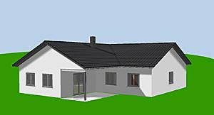 Winkelbungalow 131 m² als Eckhaus