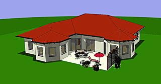 Winkelbungalow mit zwei Erkern 167 qm Wohnfläche