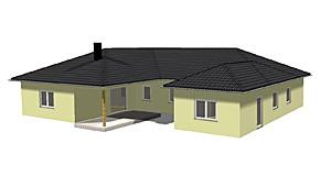 winkelbungalow 191 24 ba mit einliegerwohnung und atrium neubau einfamilienhaus massivhaus. Black Bedroom Furniture Sets. Home Design Ideas
